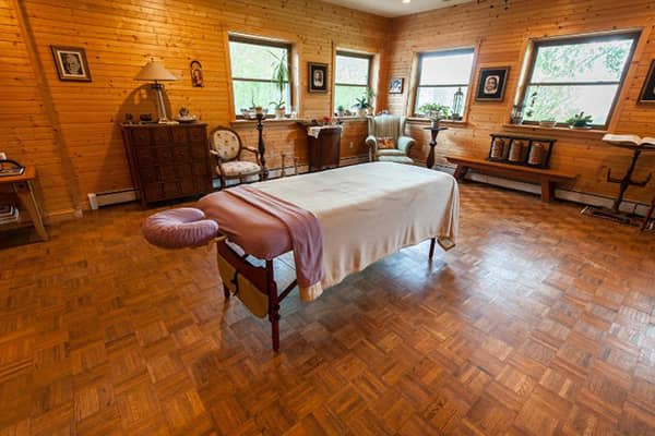 Spa room at Compassionate Expressions